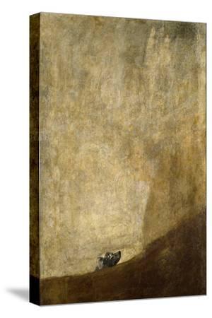 The Dog, 1820-23-Francisco de Goya-Stretched Canvas Print