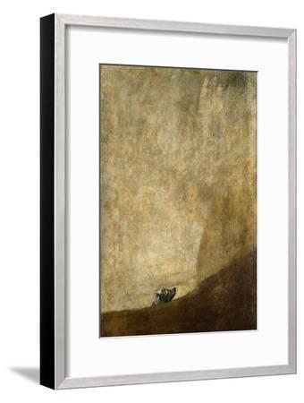 The Dog, 1820-23-Francisco de Goya-Framed Giclee Print