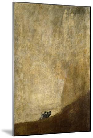 The Dog, 1820-23-Francisco de Goya-Mounted Giclee Print