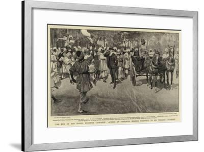 The End of the Indian Frontier Campaign-Frank Craig-Framed Giclee Print