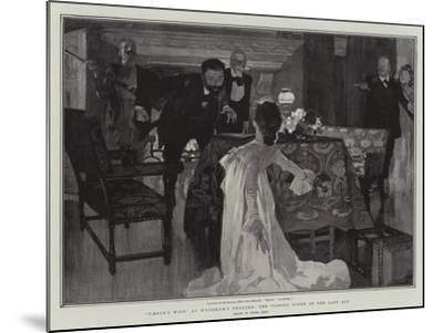 Caesar's Wife at Wyndham's Theatre, the Closing Scene of the Last Act-Frank Craig-Mounted Giclee Print