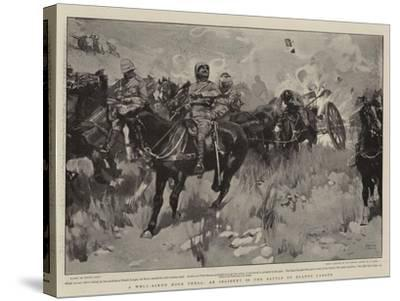 A Well-Aimed Boer Shell, an Incident in the Battle of Elands Laagte-Frank Craig-Stretched Canvas Print