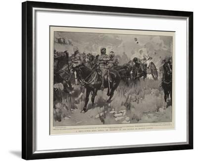 A Well-Aimed Boer Shell, an Incident in the Battle of Elands Laagte-Frank Craig-Framed Giclee Print