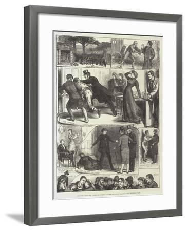 Sketches from the Lights O' London, at the Princess's Theatre-Francis S. Walker-Framed Giclee Print