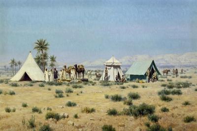 Whitaker in the Tunisian Sahara-Francesco Lojacono-Framed Giclee Print