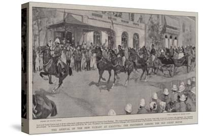 The Arrival of the New Viceroy at Calcutta, the Procession Passing the Old Court House-Frank Craig-Stretched Canvas Print