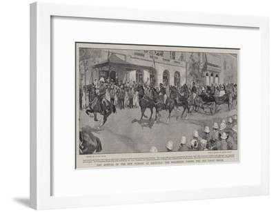 The Arrival of the New Viceroy at Calcutta, the Procession Passing the Old Court House-Frank Craig-Framed Giclee Print
