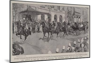 The Arrival of the New Viceroy at Calcutta, the Procession Passing the Old Court House-Frank Craig-Mounted Giclee Print