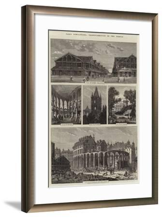 Paris Demolitions, Transformation of the Temple-Felix Thorigny-Framed Giclee Print