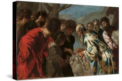Joseph Sold by His Brothers, C.1657-58-Francesco Maffei-Stretched Canvas Print