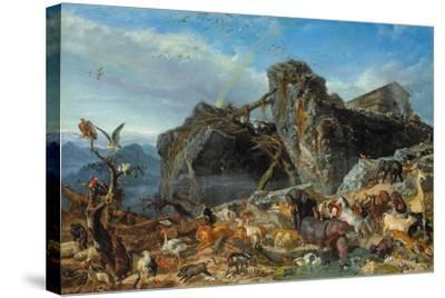 After the Flood: the Exit of Animals from the Ark, 1867-Filippo Palizzi-Stretched Canvas Print