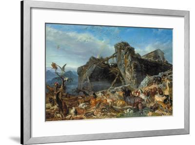 After the Flood: the Exit of Animals from the Ark, 1867-Filippo Palizzi-Framed Giclee Print