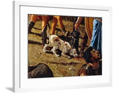 Dogs in Battlefield, Detail from the Triumph of Marius-Francesco Saverio Altamura-Framed Giclee Print