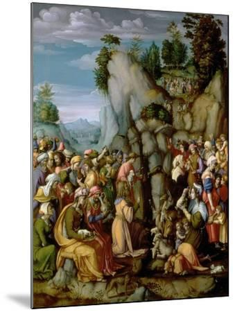 Moses Striking the Rock, after 1525 (Panel)-Francesco Ubertini Bacchiacca Il-Mounted Giclee Print