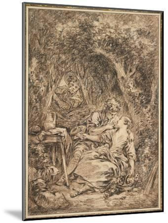 Lovers Surprised (Annette Et Lubin), Early 1760s-Francois Boucher-Mounted Giclee Print