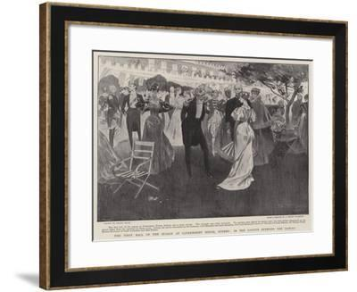 The First Ball of the Season at Government House, Sydney, in the Garden Between the Dances-Frank Craig-Framed Giclee Print