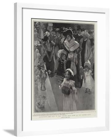 Inspecting the Toys in the Truth Doll Show at the Albert Hall-Frank Craig-Framed Giclee Print