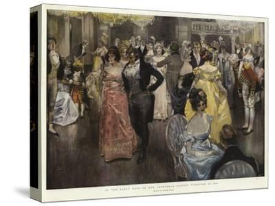 In the Early Days of Our Century, a Society Function in 1800-Frank Craig-Stretched Canvas Print