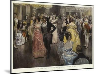 In the Early Days of Our Century, a Society Function in 1800-Frank Craig-Mounted Giclee Print