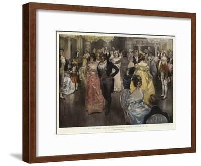 In the Early Days of Our Century, a Society Function in 1800-Frank Craig-Framed Giclee Print