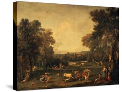 Bull-Hunting-Francesco Zuccarelli-Stretched Canvas Print