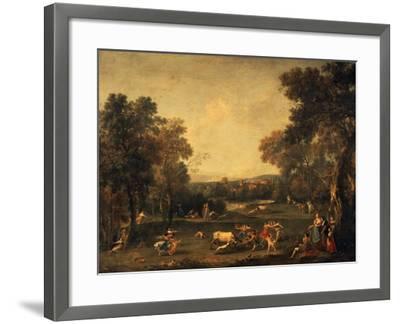Bull-Hunting-Francesco Zuccarelli-Framed Giclee Print