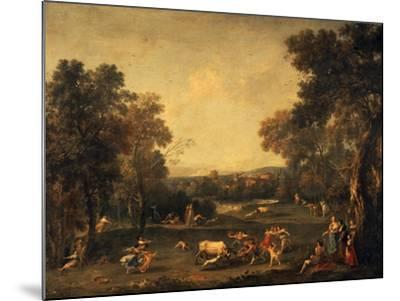 Bull-Hunting-Francesco Zuccarelli-Mounted Giclee Print