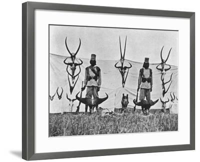 A Three Weeks' Shoot on the Guaso Nyiro, from 'Big Game Shooting on the Equator', 1908-Francis Arthur Dickinson-Framed Giclee Print