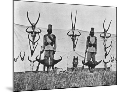 A Three Weeks' Shoot on the Guaso Nyiro, from 'Big Game Shooting on the Equator', 1908-Francis Arthur Dickinson-Mounted Giclee Print