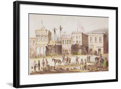 High and Dry, from 'Mountains and Molehills' or a 'Burnt Journal', 1855-Francis Samuel Marryat-Framed Giclee Print