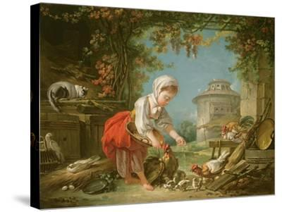 The Little Farm Maid, 1752-Francois Boucher-Stretched Canvas Print