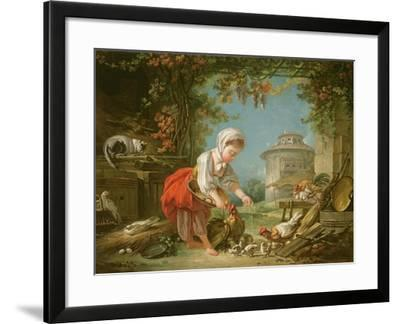 The Little Farm Maid, 1752-Francois Boucher-Framed Giclee Print
