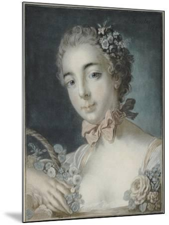 Head of Flora, 1769-Francois Boucher-Mounted Giclee Print