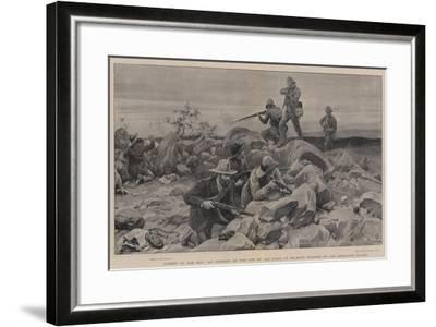 Caught on the Hop, an Incident on the Top of the Kopje at Belmont Stormed by the Grenadier Guards-Frank Dadd-Framed Giclee Print
