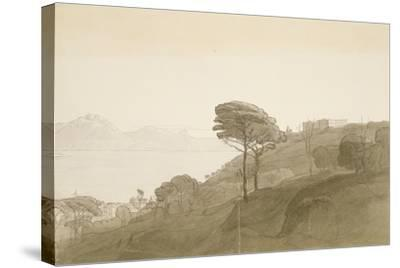 No.1621 View of the Bay of Naples and Mt. Lactarius, 1781 (W/C, Ink and Wash on Paper)-Francis Towne-Stretched Canvas Print