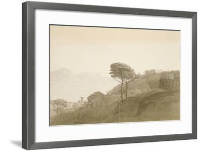 No.1621 View of the Bay of Naples and Mt. Lactarius, 1781 (W/C, Ink and Wash on Paper)-Francis Towne-Framed Giclee Print