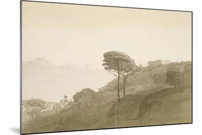 No.1621 View of the Bay of Naples and Mt. Lactarius, 1781 (W/C, Ink and Wash on Paper)-Francis Towne-Mounted Giclee Print