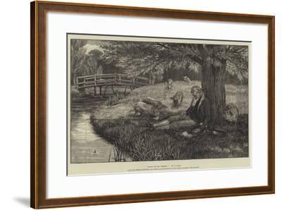 Happy Be Thy Dreams!, from the General Exhibition of Water-Colour Drawings at the Dudley Gallery-Frank Dadd-Framed Giclee Print
