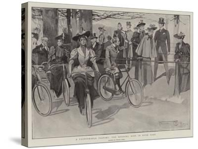 A Fashionable Pastime, the Morning Ride in Hyde Park-Frank Craig-Stretched Canvas Print