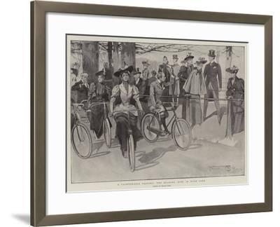 A Fashionable Pastime, the Morning Ride in Hyde Park-Frank Craig-Framed Giclee Print
