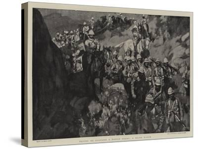 Trying to Surprise a Mobile Enemy, a Night March-Frank Craig-Stretched Canvas Print