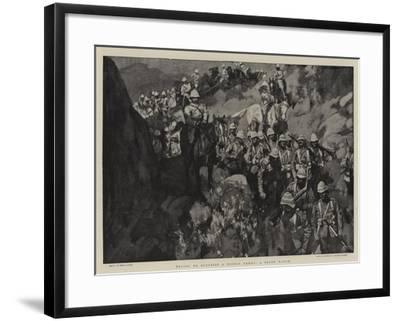 Trying to Surprise a Mobile Enemy, a Night March-Frank Craig-Framed Giclee Print