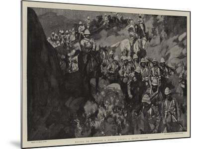 Trying to Surprise a Mobile Enemy, a Night March-Frank Craig-Mounted Giclee Print