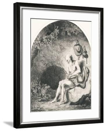 Saint Jerome, 1644-Ferdinand Bol-Framed Giclee Print