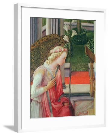 The Annunciation, Detail of the Angel Gabriel-Fra Filippo Lippi-Framed Giclee Print