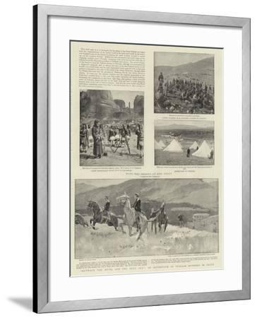 Between the Devil and the Deep Sea, an Adventure of Italian Officers in Crete-Frank Craig-Framed Giclee Print