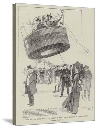 Fresh Air for Londoners, an Ascent in the Captive Balloon at Earl's Court-Frank Craig-Stretched Canvas Print