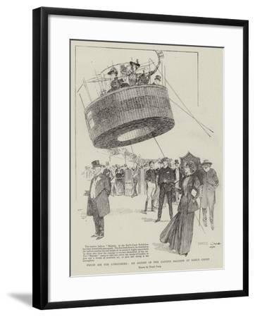 Fresh Air for Londoners, an Ascent in the Captive Balloon at Earl's Court-Frank Craig-Framed Giclee Print
