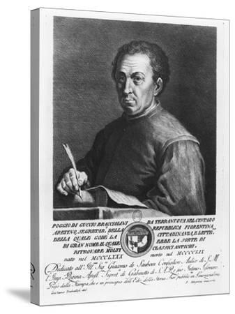Portrait of Poggio Bracciolini, 1769-Francesco Allegrini-Stretched Canvas Print