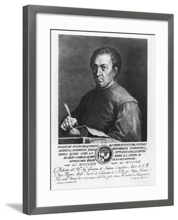 Portrait of Poggio Bracciolini, 1769-Francesco Allegrini-Framed Giclee Print